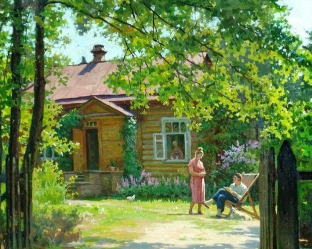 Щербаков Борис Валентинович (Россия, 1916-1995) «Дачи Дюковой» 1960