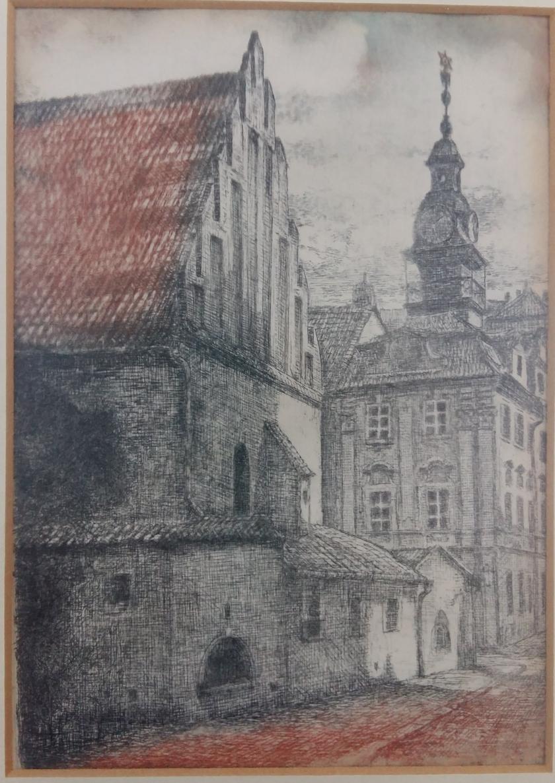 Старонова синагога. Гравюра