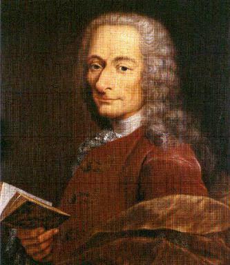 Voltaire, 1718 born Francois Marie Arouet (1694-1778)